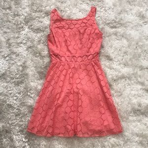 Bright pink lace dress